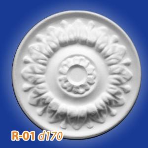Розетка потолочная из полистирола R01 в Рязани