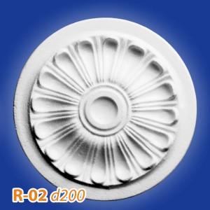 Розетка потолочная из полистирола R02 в Рязани