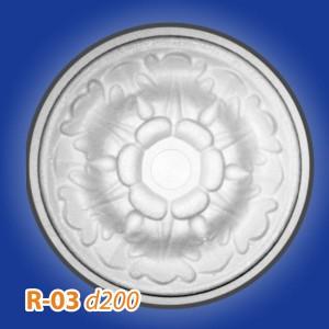 Розетка потолочная из полистирола R03 в Рязани