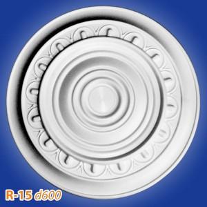 Розетка потолочная из полистирола R15