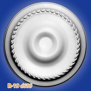 Розетка потолочная из полистирола R19