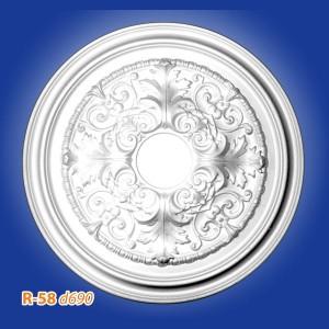 Розетка потолочная из полистирола R58