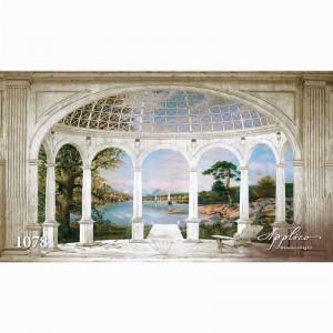 Фреска классический пейзаж фр1078