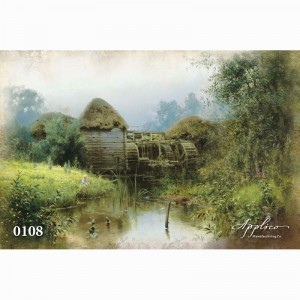 Фреска классический пейзаж фр108