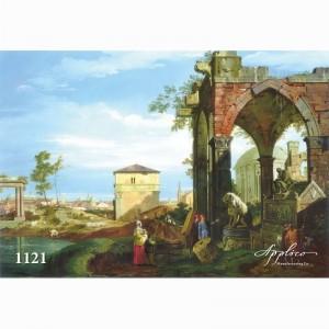 Фреска классический пейзаж фр1121