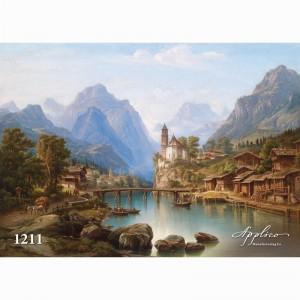 Фреска классический пейзаж фр1211