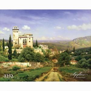 Фреска классический пейзаж фр1232