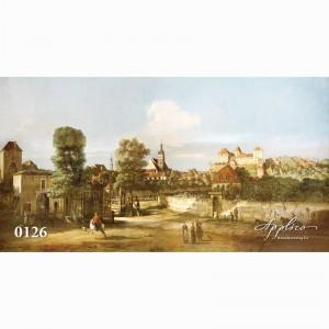 Фреска классический пейзаж фр126